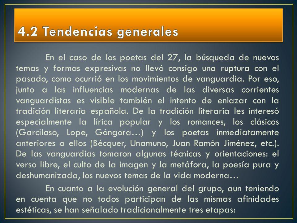 4.2 Tendencias generales