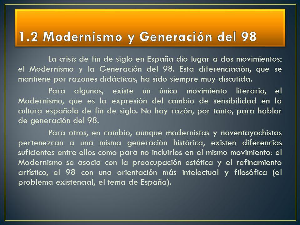 1.2 Modernismo y Generación del 98