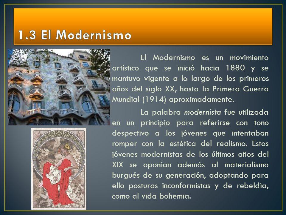 1.3 El Modernismo