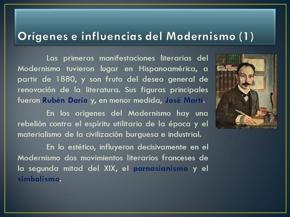 Orígenes e influencias del Modernismo (1)