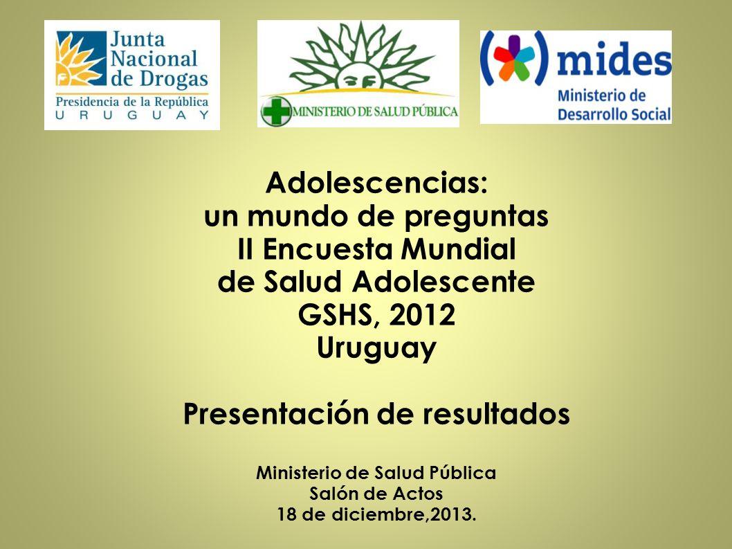 Presentación de resultados Ministerio de Salud Pública
