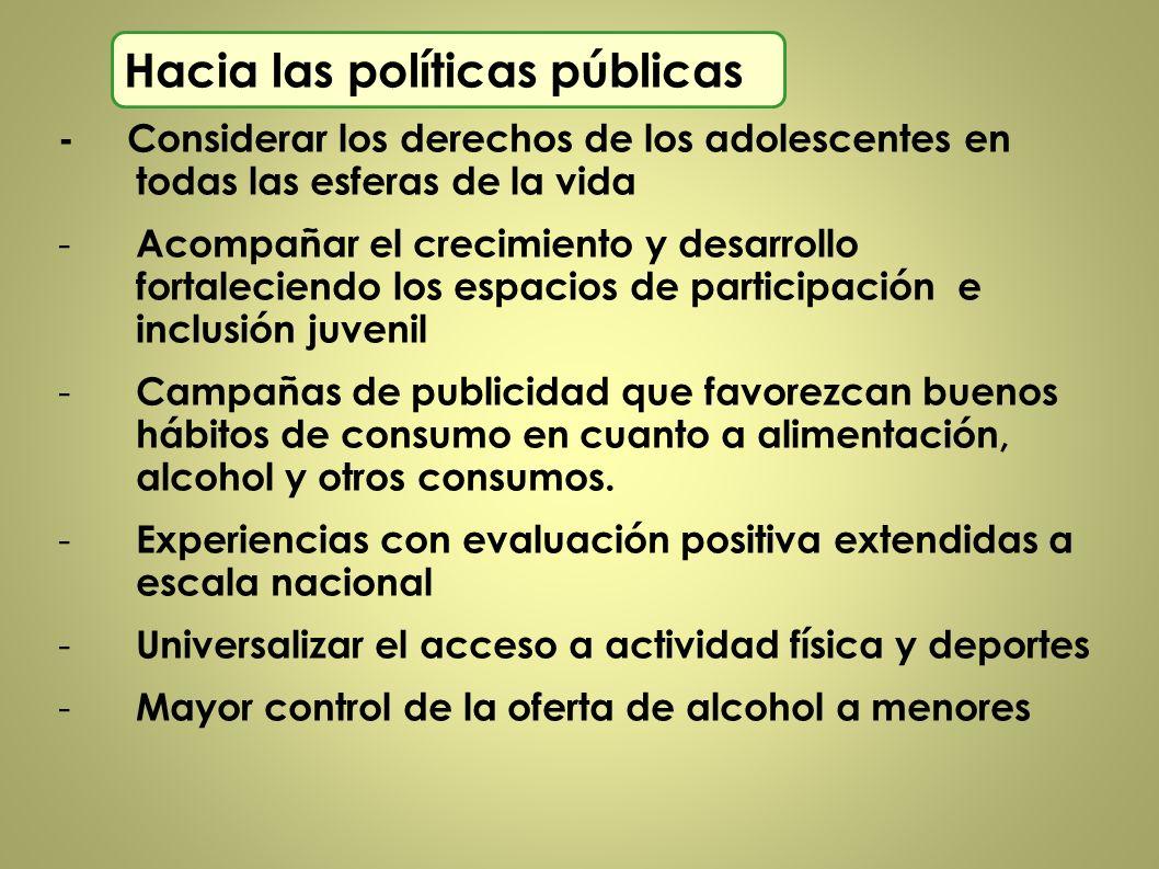 Hacia las políticas públicas