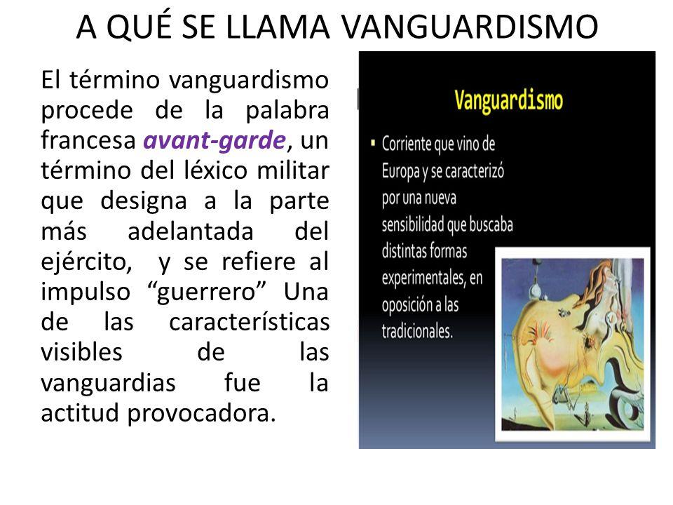 Colegio claretiano de c cuta lic sandra milena l pez for Caracteristicas del vanguardismo