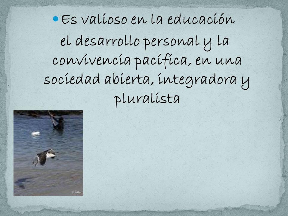 Es valioso en la educación