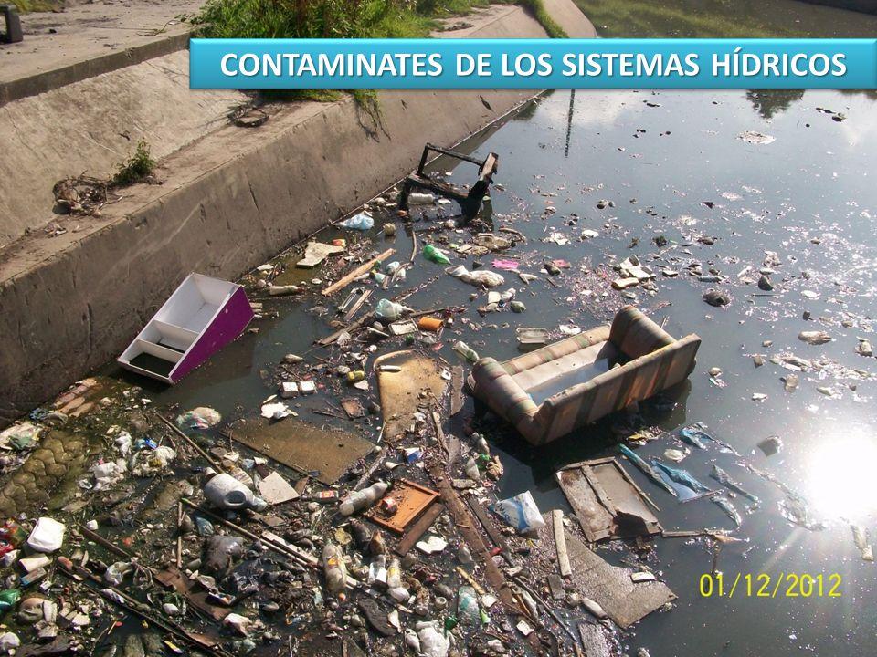 CONTAMINATES DE LOS SISTEMAS HÍDRICOS