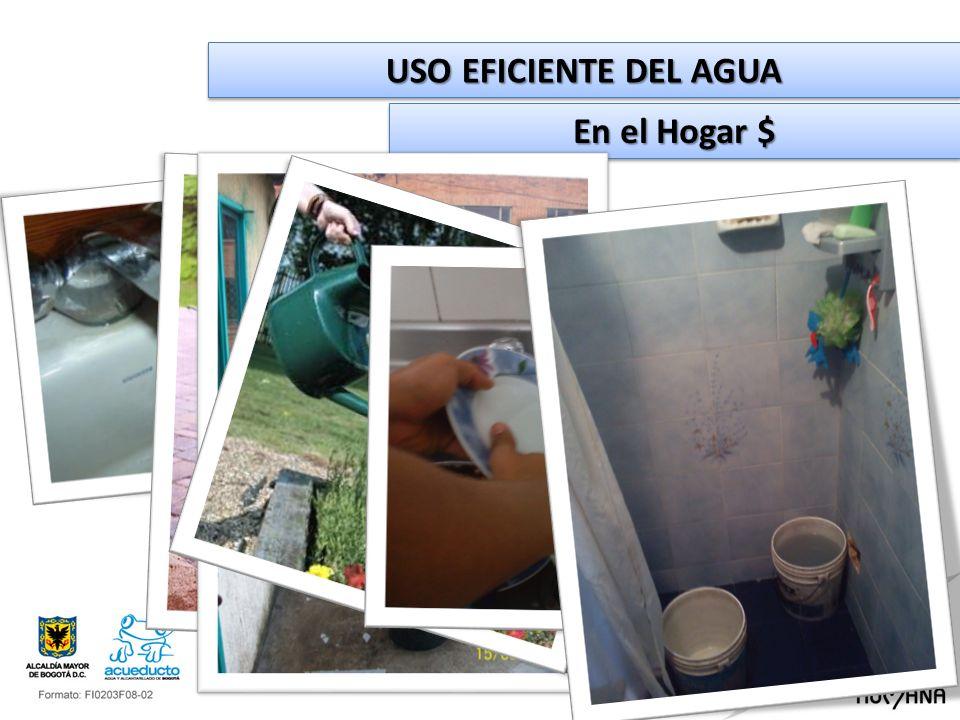 USO EFICIENTE DEL AGUA En el Hogar $