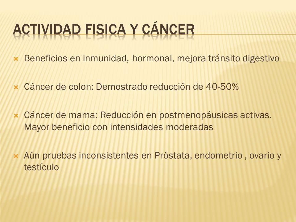 Actividad fisica y cáncer