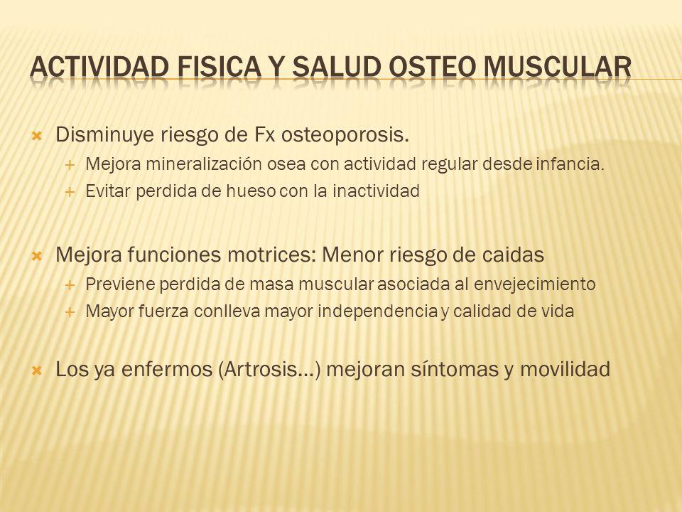 Actividad fisica y salud osteo muscular