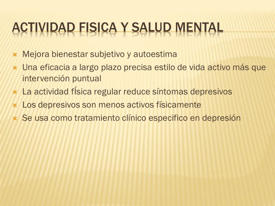Actividad fisica y salud mental