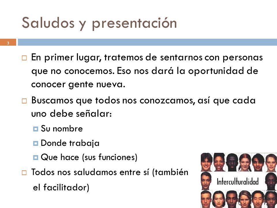Saludos y presentación
