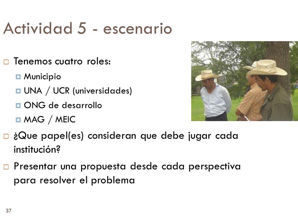 Actividad 5 - escenario Tenemos cuatro roles:
