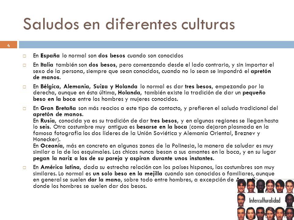 Saludos en diferentes culturas