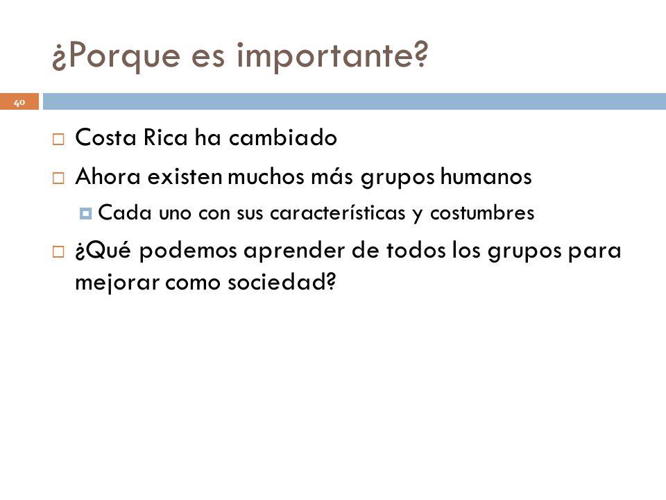 ¿Porque es importante Costa Rica ha cambiado