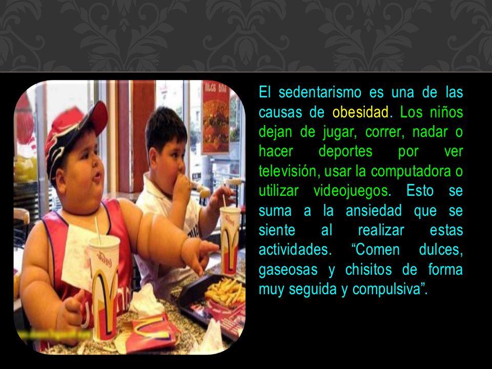 El sedentarismo es una de las causas de obesidad