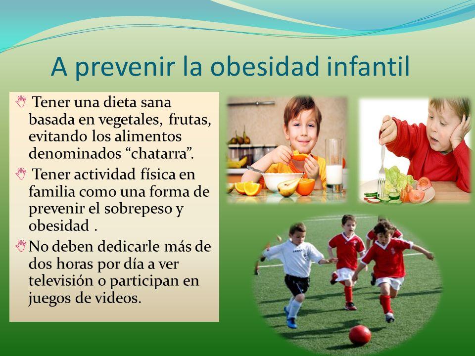 A prevenir la obesidad infantil