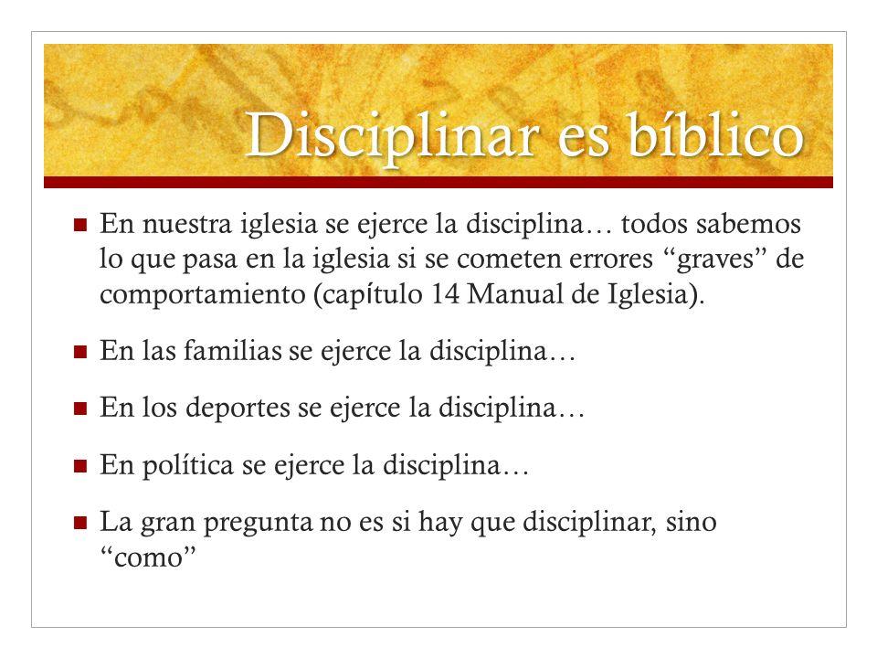 Disciplinar es bíblico