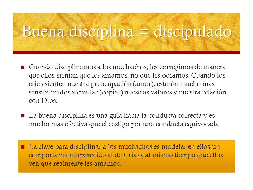 Buena disciplina = discipulado
