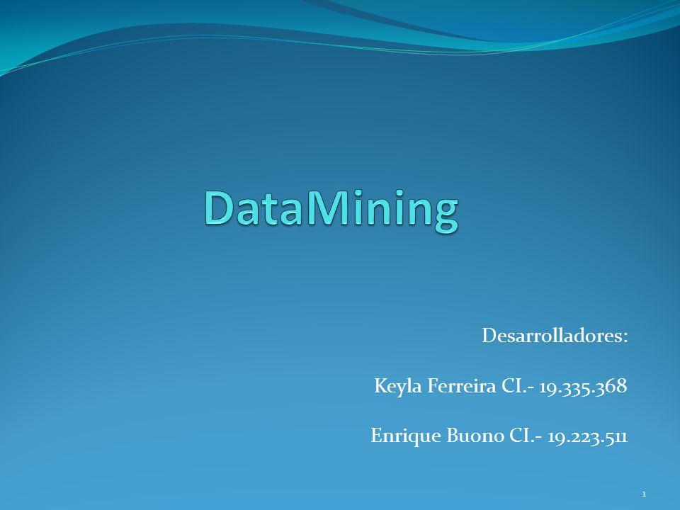 DataMining Desarrolladores: Keyla Ferreira CI.- 19.335.368