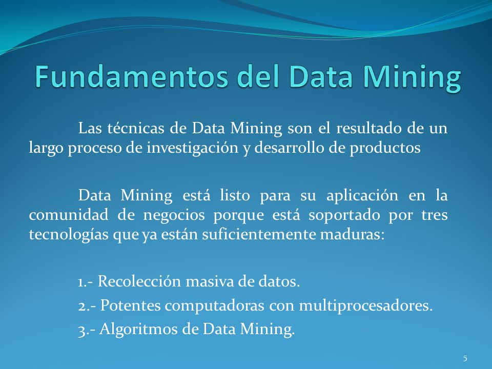 Fundamentos del Data Mining