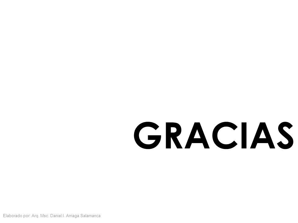 GRACIAS Elaborado por: Arq. Msc. Daniel I. Arriaga Salamanca