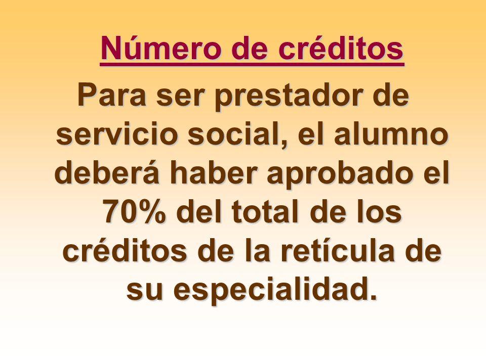 Número de créditos
