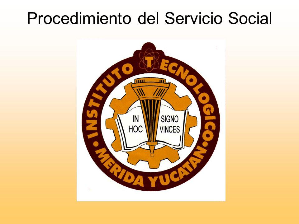 Procedimiento del Servicio Social