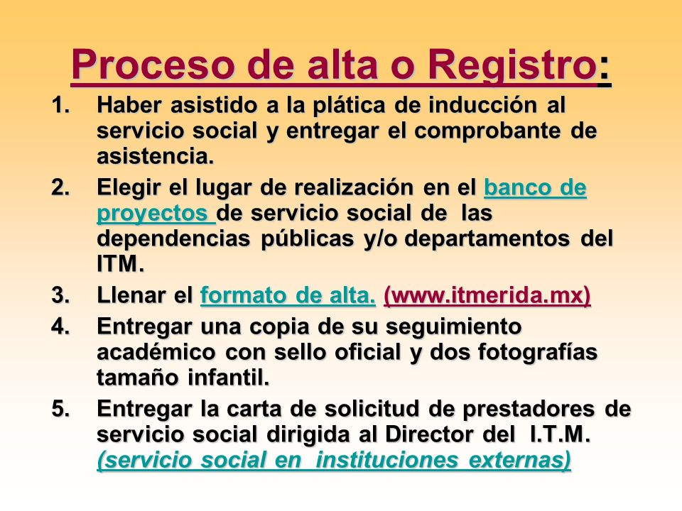 Proceso de alta o Registro:
