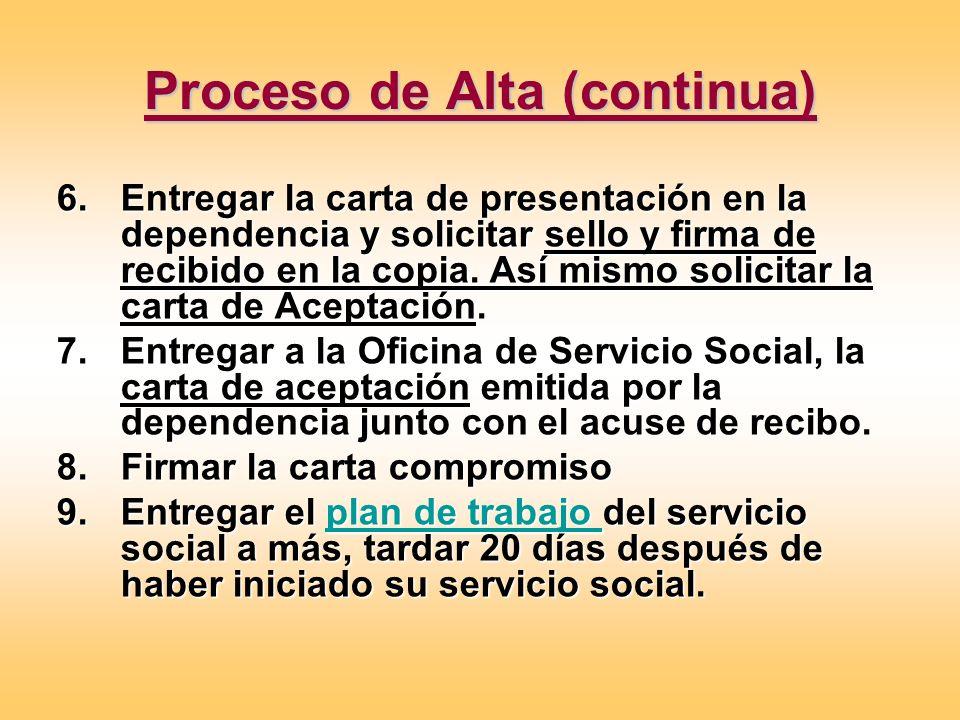 Proceso de Alta (continua)