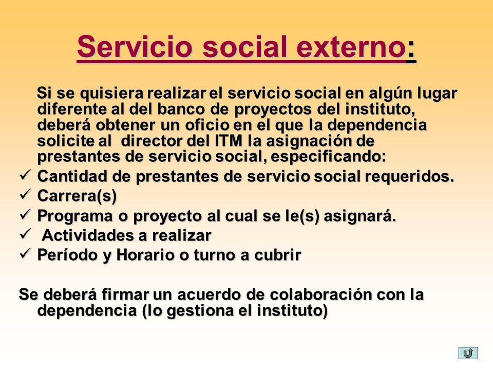 Servicio social externo: