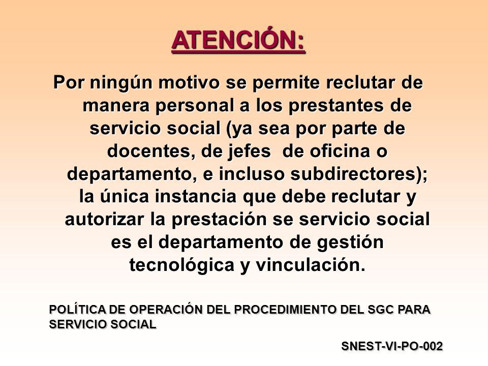 ATENCIÓN: