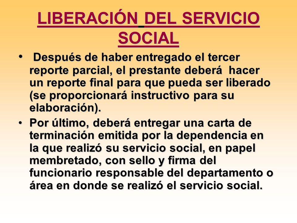 LIBERACIÓN DEL SERVICIO SOCIAL