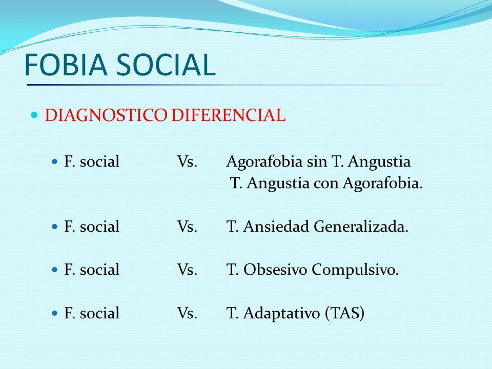 FOBIA SOCIAL DIAGNOSTICO DIFERENCIAL
