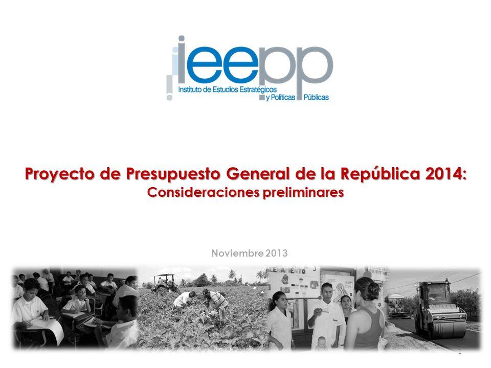 Proyecto de Presupuesto General de la República 2014: Consideraciones preliminares