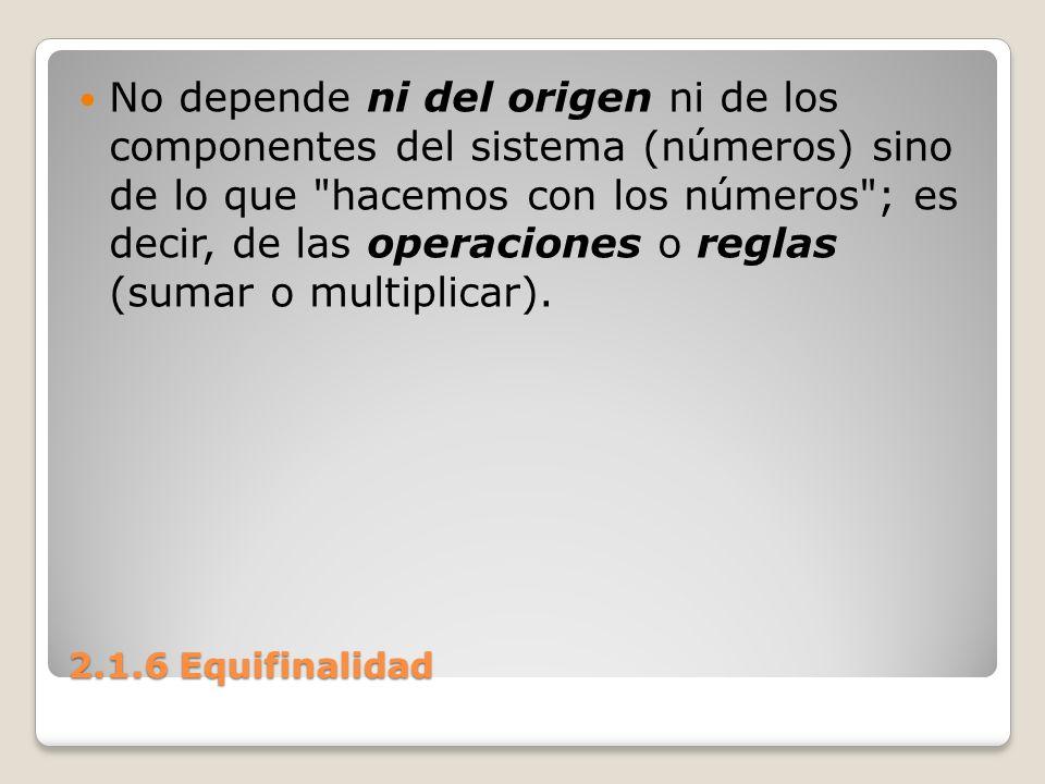 No depende ni del origen ni de los componentes del sistema (números) sino de lo que hacemos con los números ; es decir, de las operaciones o reglas (sumar o multiplicar).
