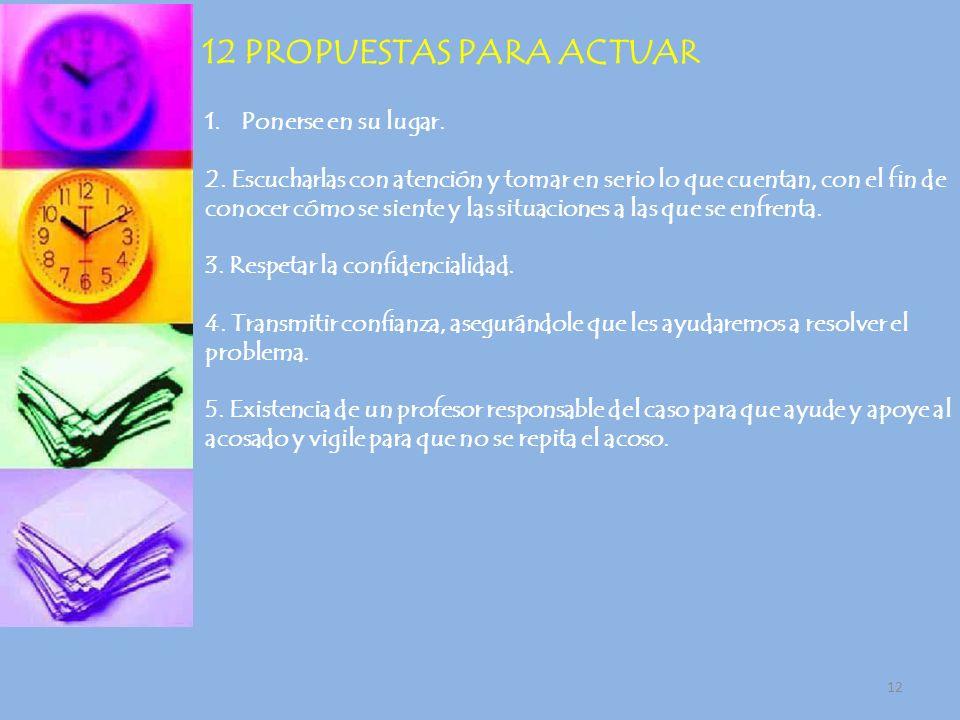 12 PROPUESTAS PARA ACTUAR