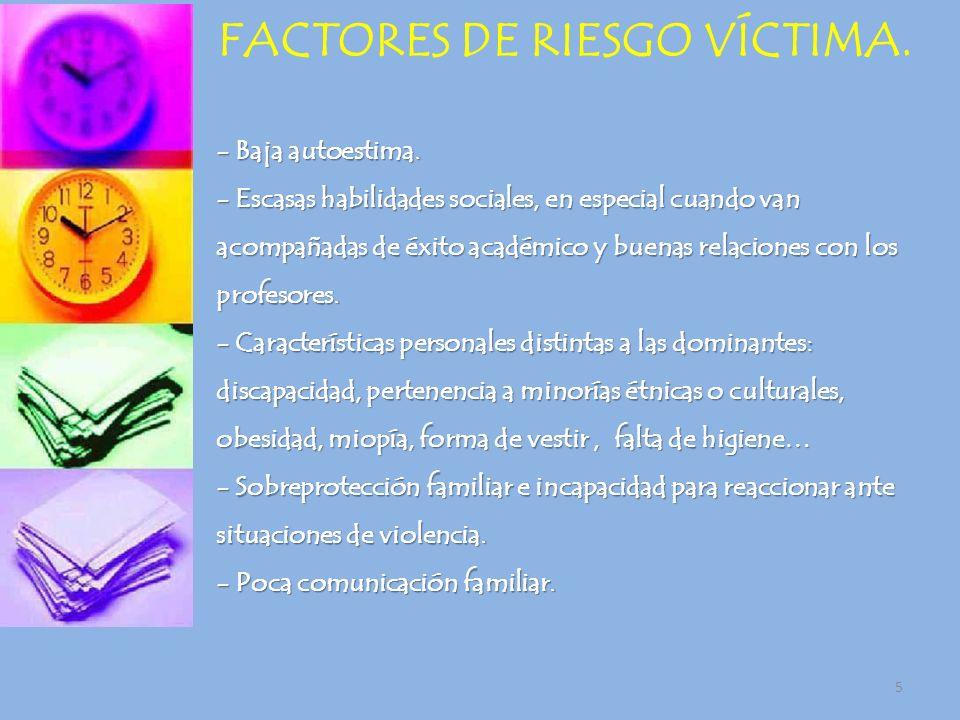 FACTORES DE RIESGO VÍCTIMA.