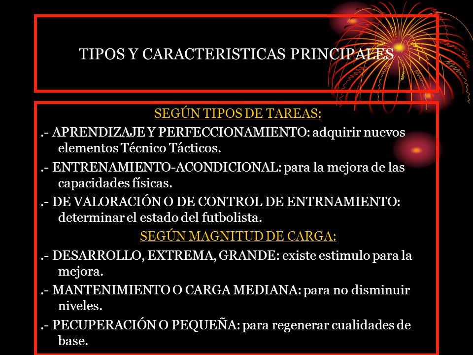 TIPOS Y CARACTERISTICAS PRINCIPALES