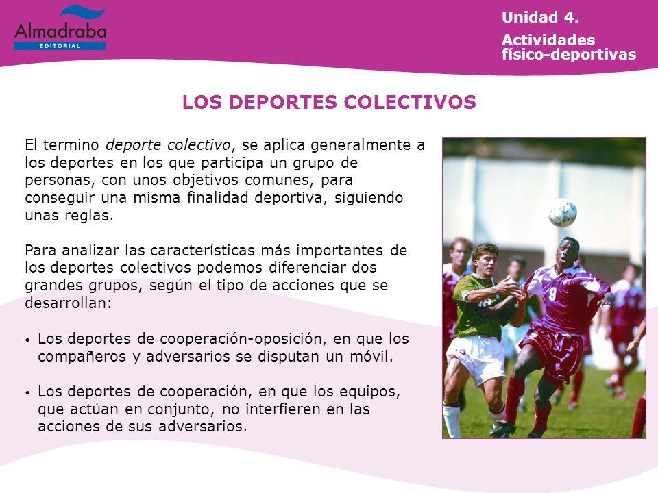 LOS DEPORTES COLECTIVOS