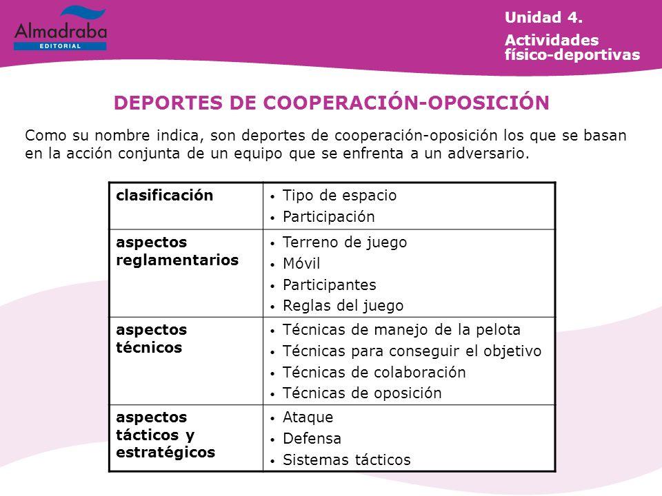 DEPORTES DE COOPERACIÓN-OPOSICIÓN