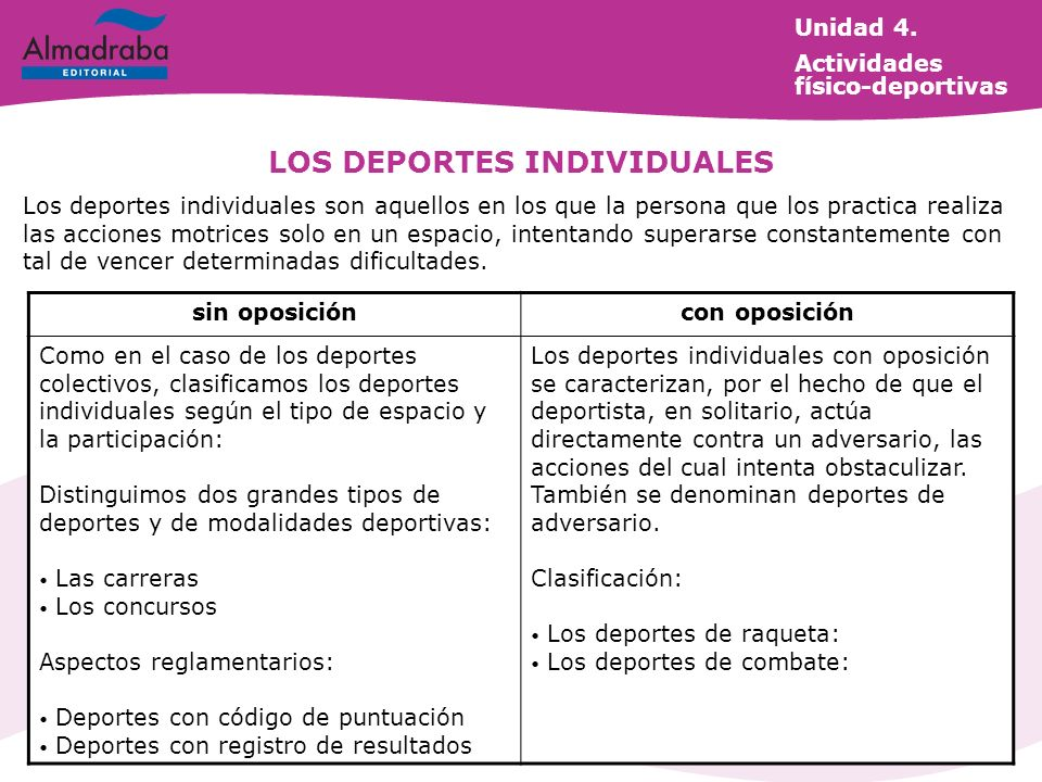 LOS DEPORTES INDIVIDUALES