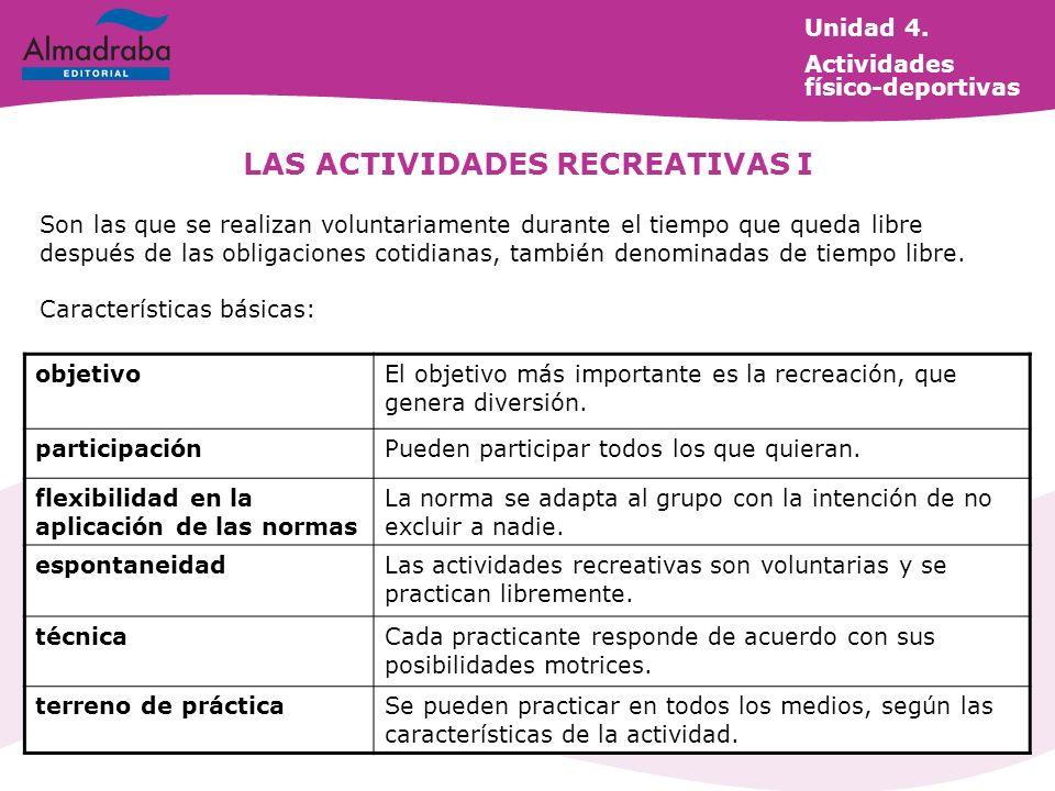LAS ACTIVIDADES RECREATIVAS I