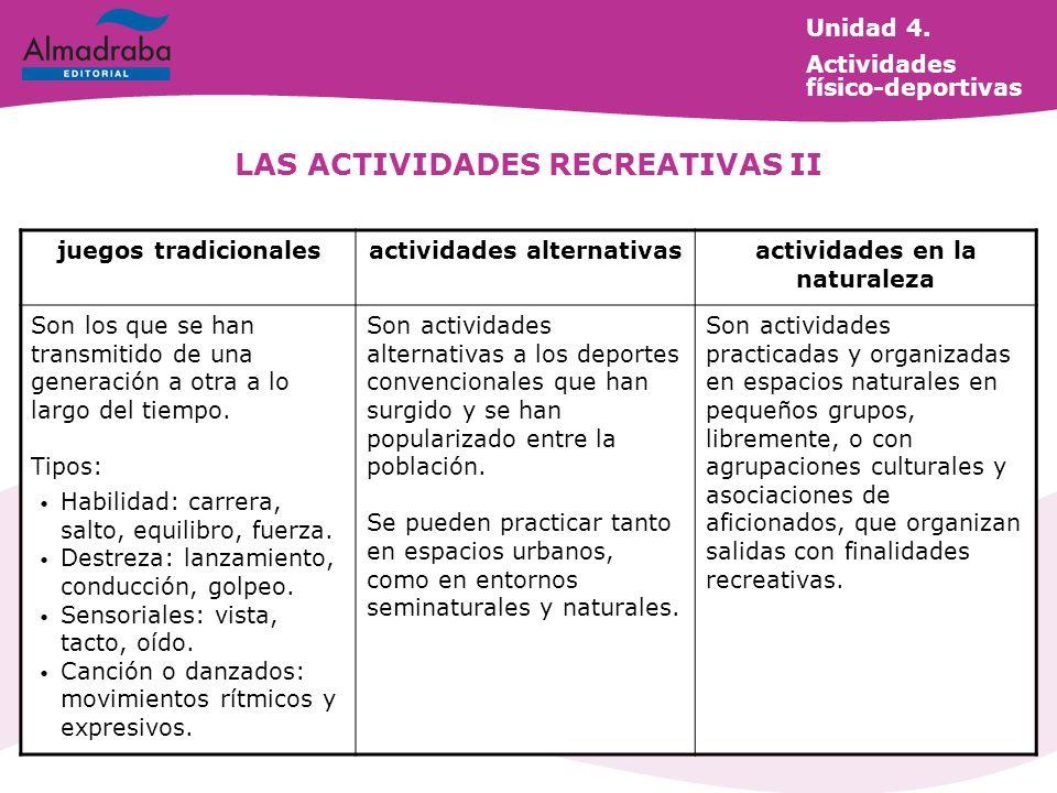 LAS ACTIVIDADES RECREATIVAS II