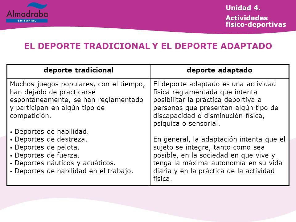 EL DEPORTE TRADICIONAL Y EL DEPORTE ADAPTADO