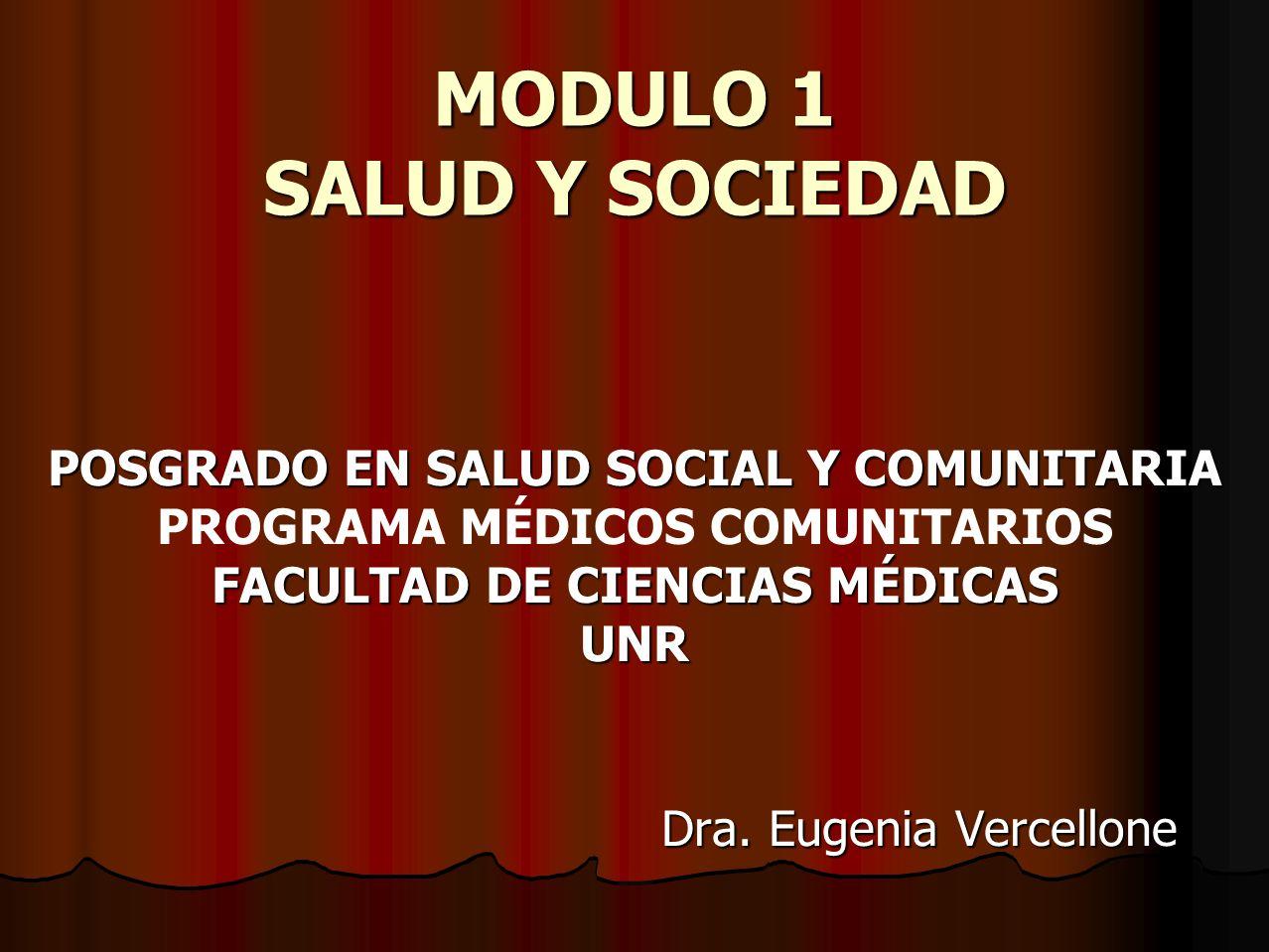 MODULO 1 SALUD Y SOCIEDAD