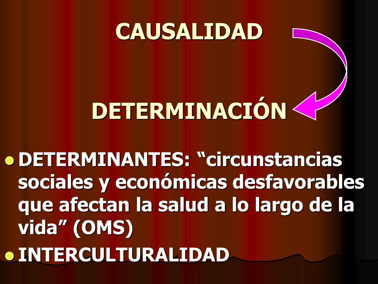 CAUSALIDAD DETERMINACIÓN