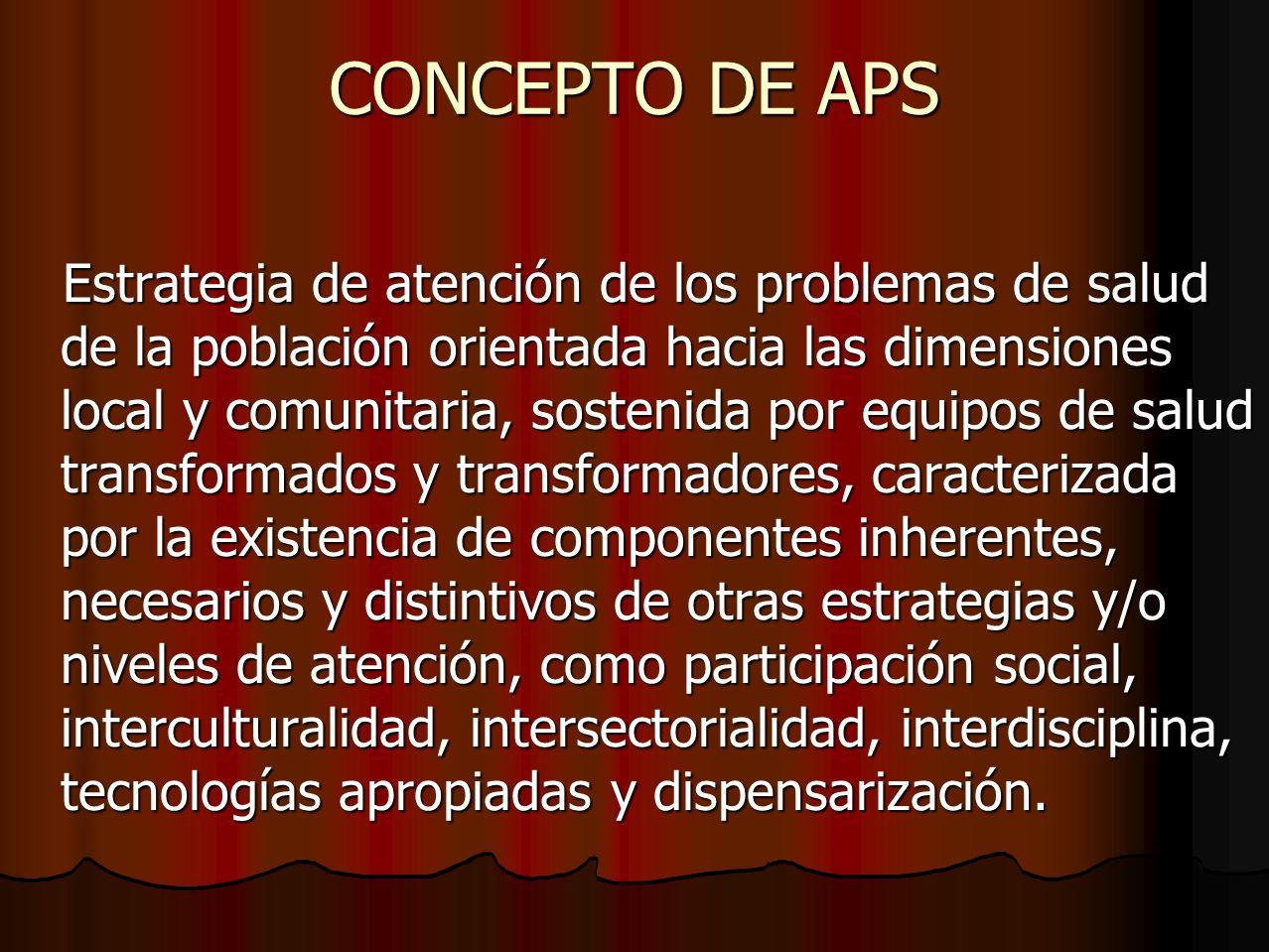 CONCEPTO DE APS