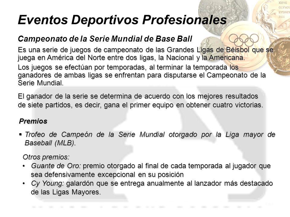 Eventos Deportivos Profesionales