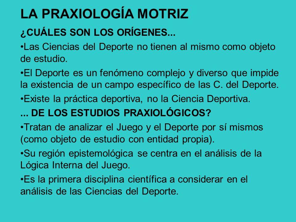 LA PRAXIOLOGÍA MOTRIZ ¿CUÁLES SON LOS ORÍGENES...