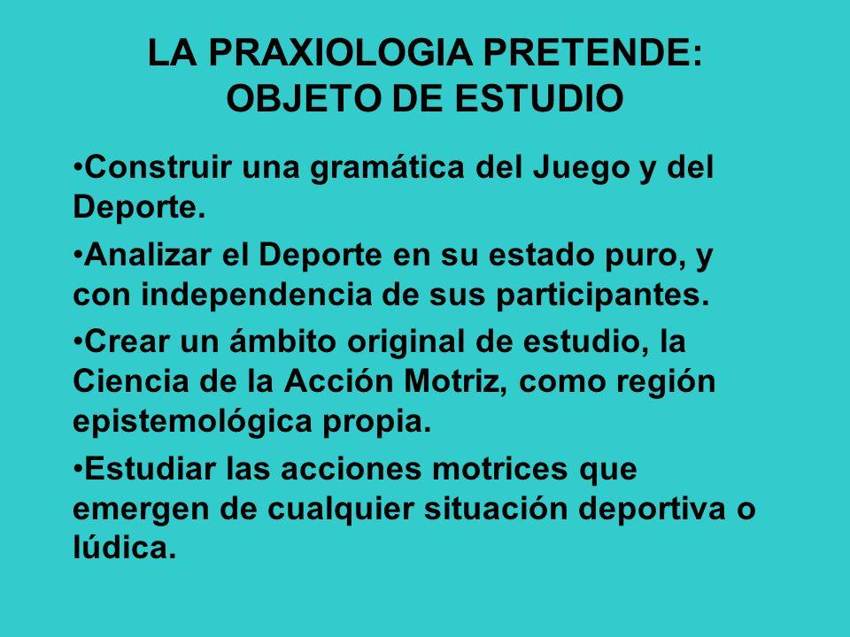 LA PRAXIOLOGIA PRETENDE: OBJETO DE ESTUDIO