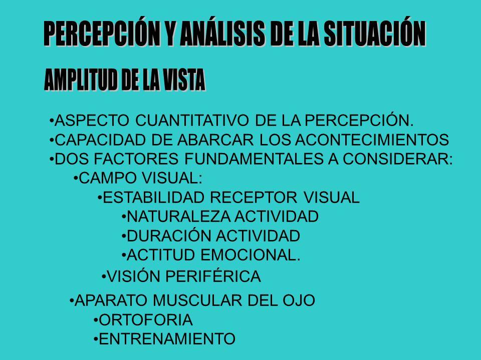 PERCEPCIÓN Y ANÁLISIS DE LA SITUACIÓN